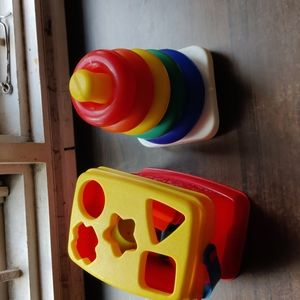 Fisher-Price combo - Rock-a-Stack and shape sorter